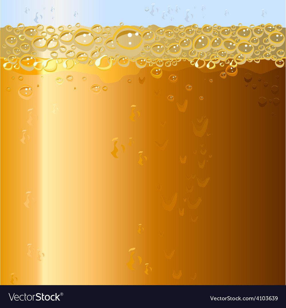 Beer background texture of drink in glass vector | Price: 1 Credit (USD $1)