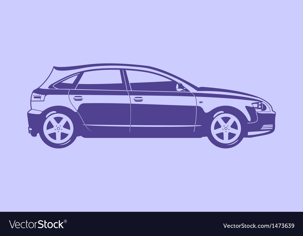 Hatchbak vector | Price: 1 Credit (USD $1)