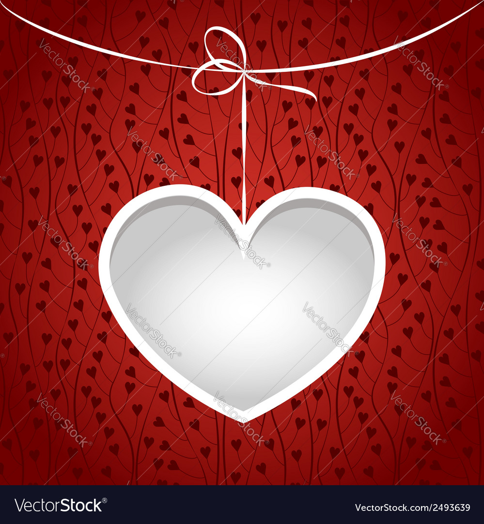Heart on a string frame vector | Price: 1 Credit (USD $1)
