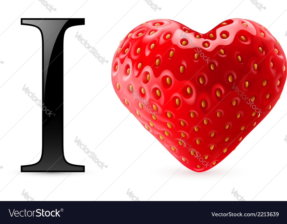 I love strawberry vector | Price: 1 Credit (USD $1)