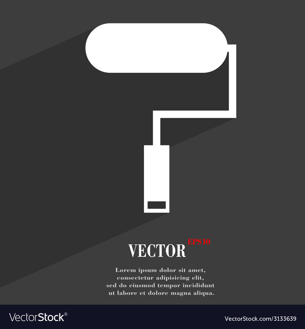 Paint roller icon symbol flat modern web design vector | Price: 1 Credit (USD $1)