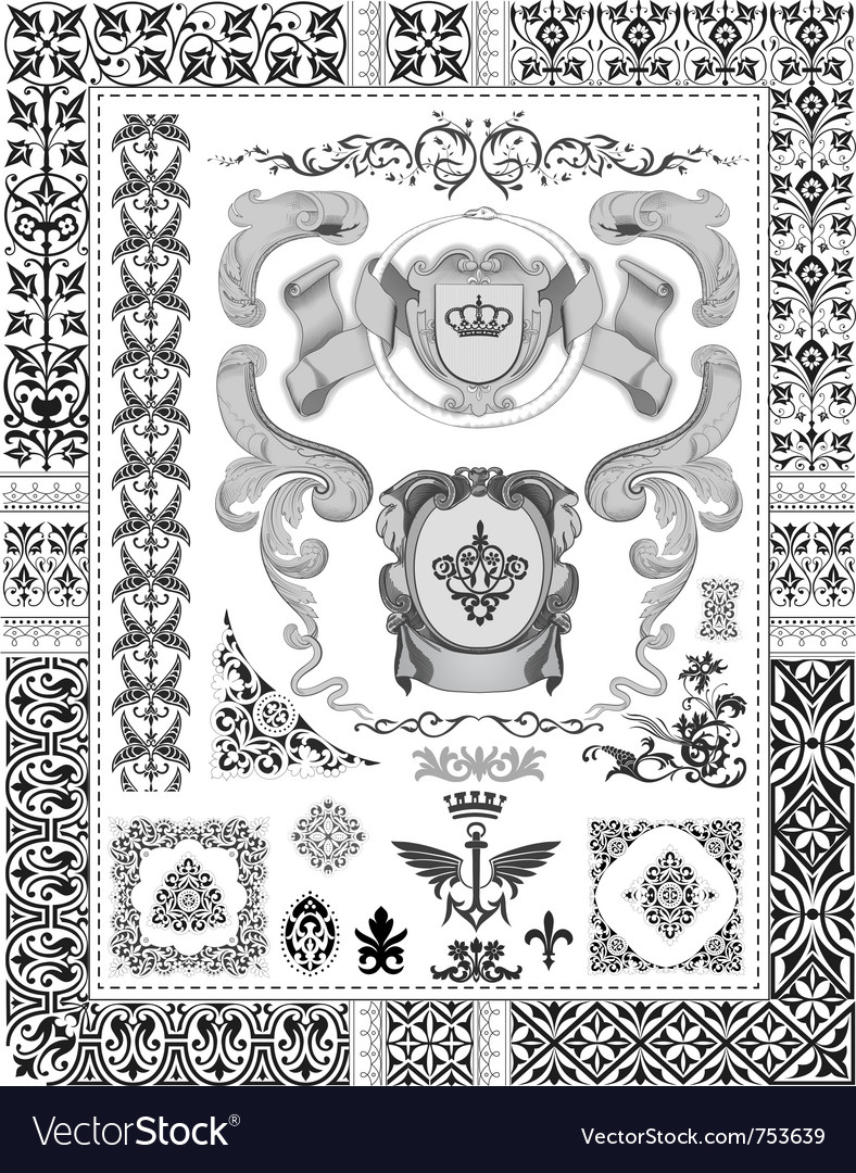 Royal ornaments vector | Price: 1 Credit (USD $1)
