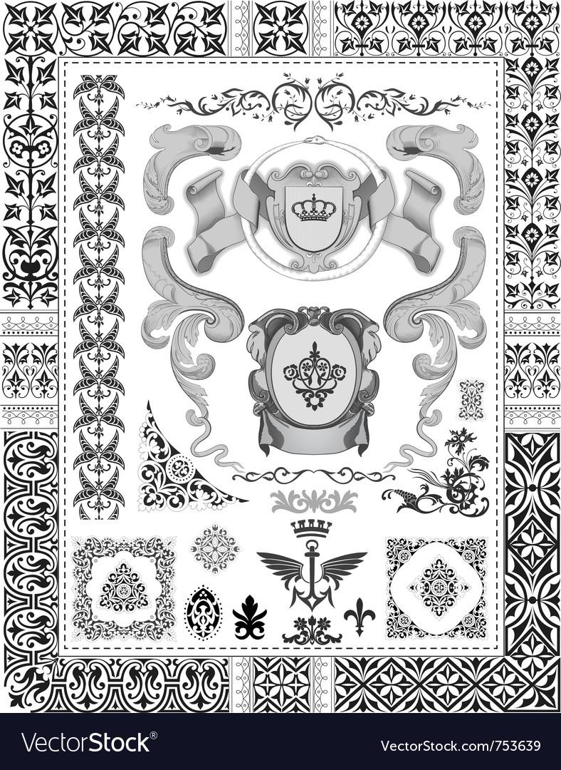 Royal ornaments vector | Price: 1 Credit (USD $1)