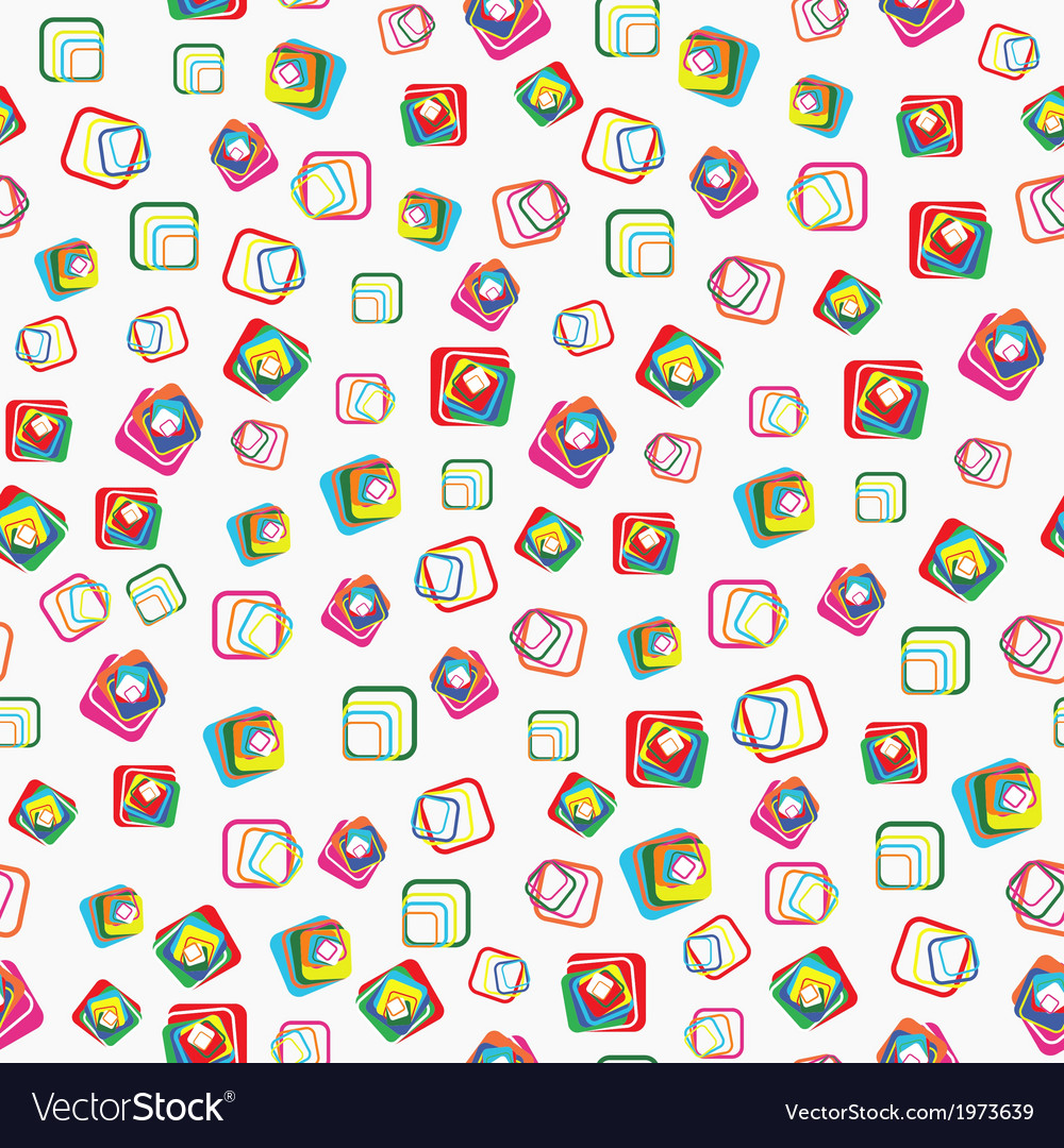 Seamless pattern with squares with rounded corners vector | Price: 1 Credit (USD $1)