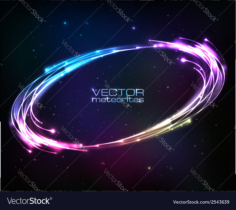 Shining neon lights cosmic abstract frame vector | Price: 1 Credit (USD $1)