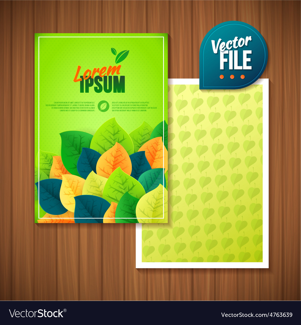 Spring backgroundcard with green leafs vector   Price: 3 Credit (USD $3)