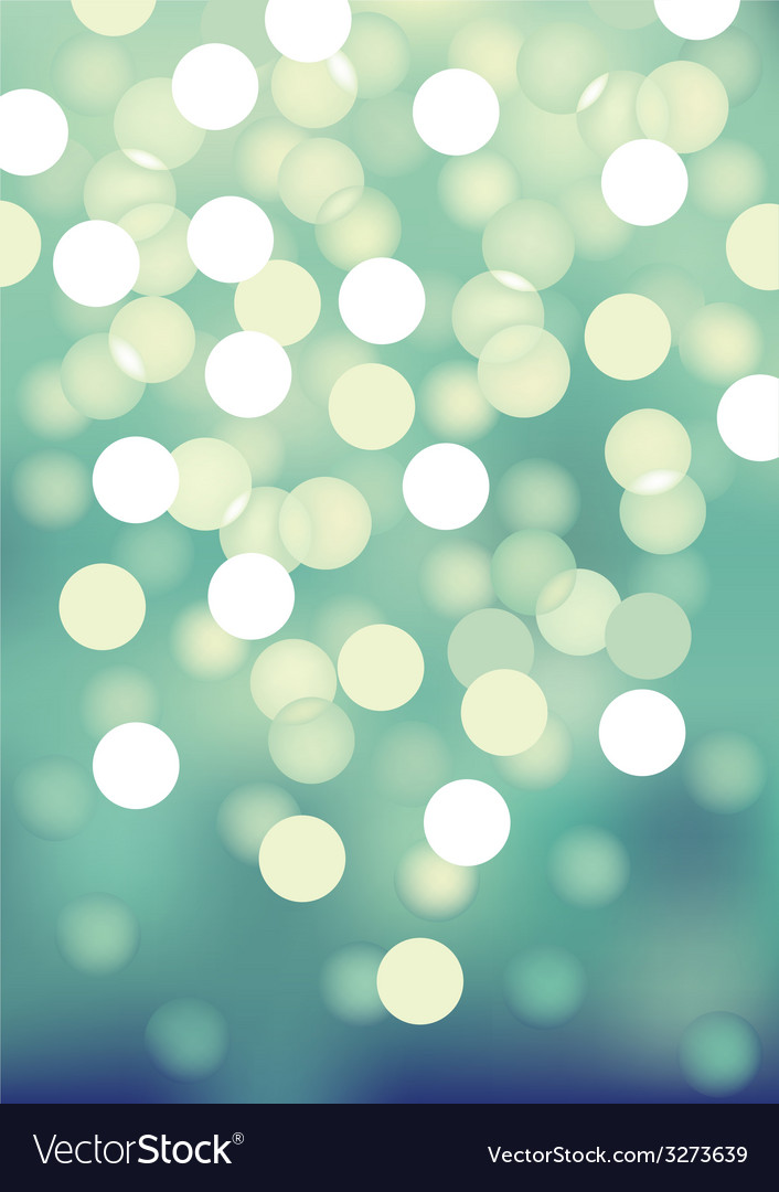 Turquoise festive lights background vector | Price: 1 Credit (USD $1)