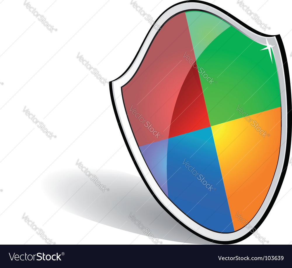 Web security sheld vector | Price: 1 Credit (USD $1)