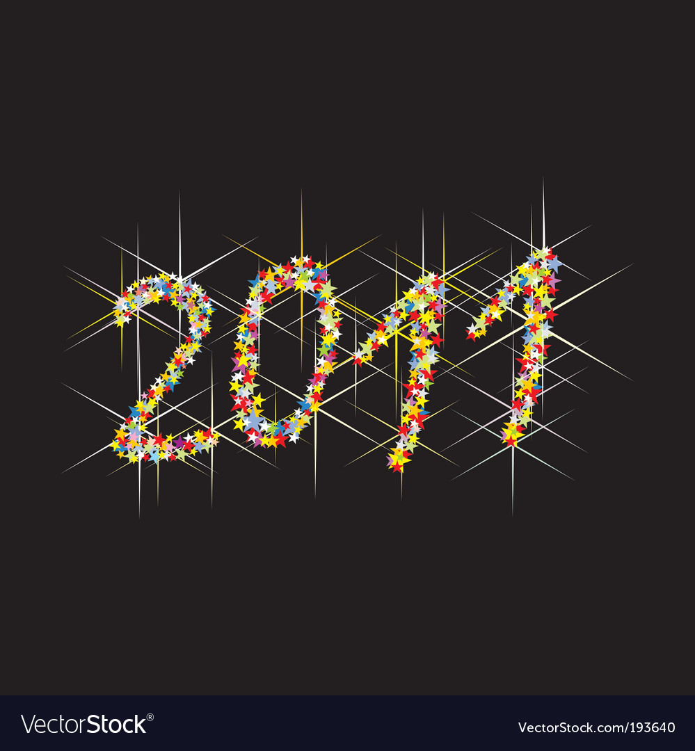 2011 new year fireworks vector | Price: 1 Credit (USD $1)