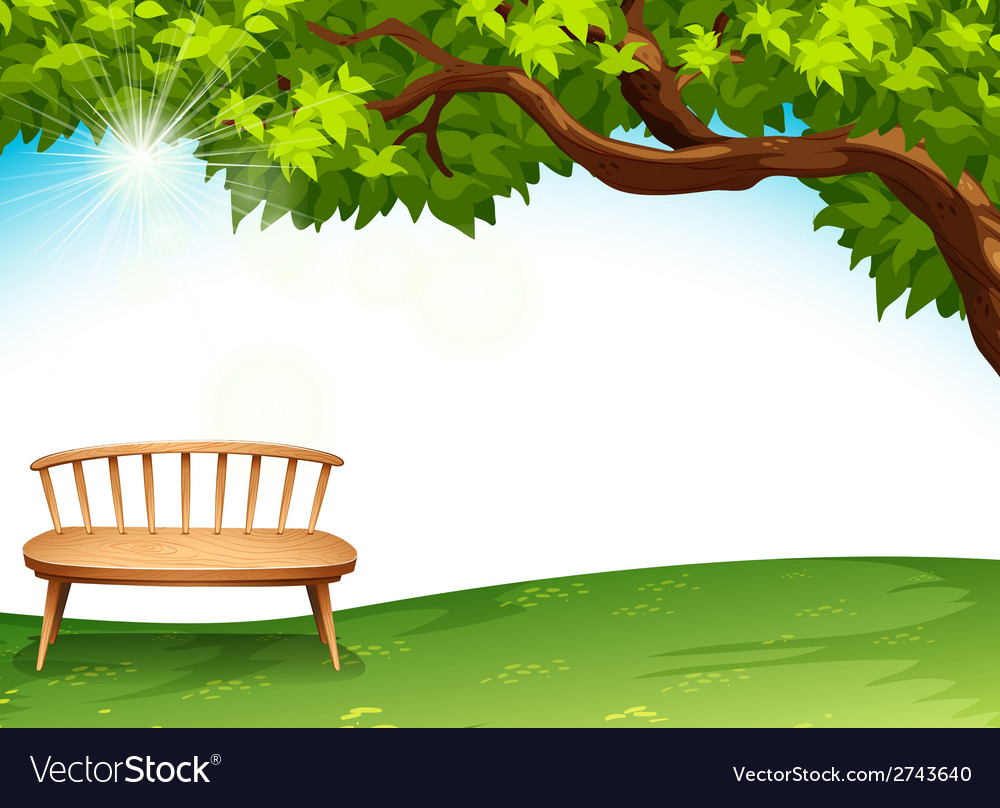 A chair near the tree vector | Price: 3 Credit (USD $3)