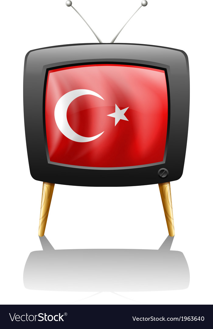 A television wit the flag of turkey vector | Price: 1 Credit (USD $1)