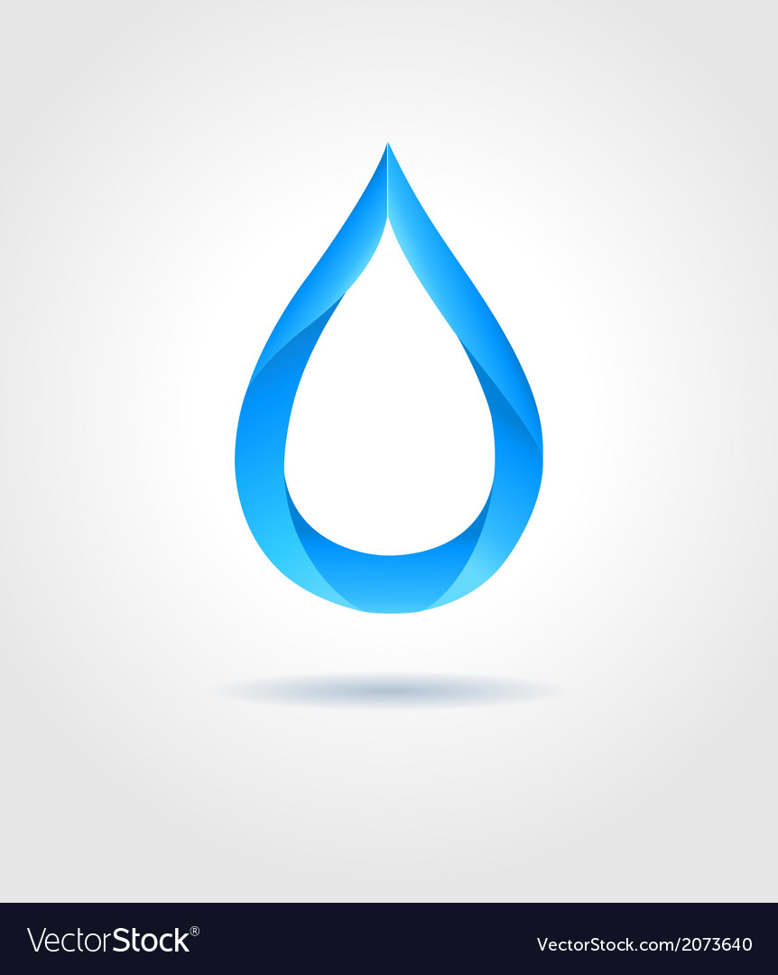 Abstract blue water drop on gray background vector | Price: 1 Credit (USD $1)