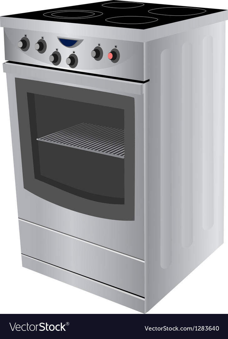 Electric stove vector | Price: 1 Credit (USD $1)