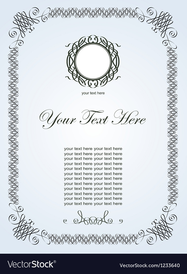 Hand draw ornate vintage frame vector | Price: 1 Credit (USD $1)