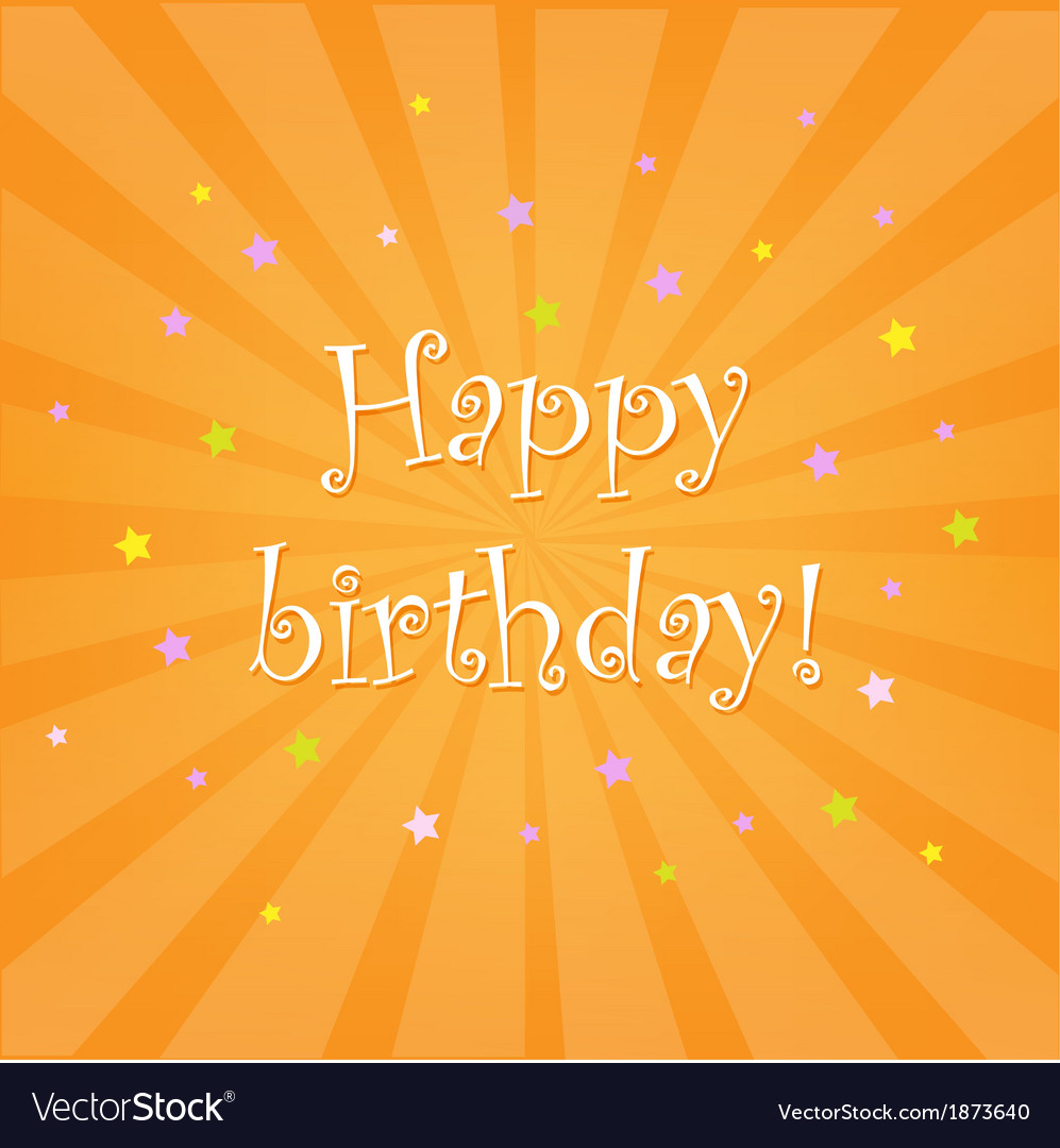 Happy birthday card with stars vector | Price: 1 Credit (USD $1)