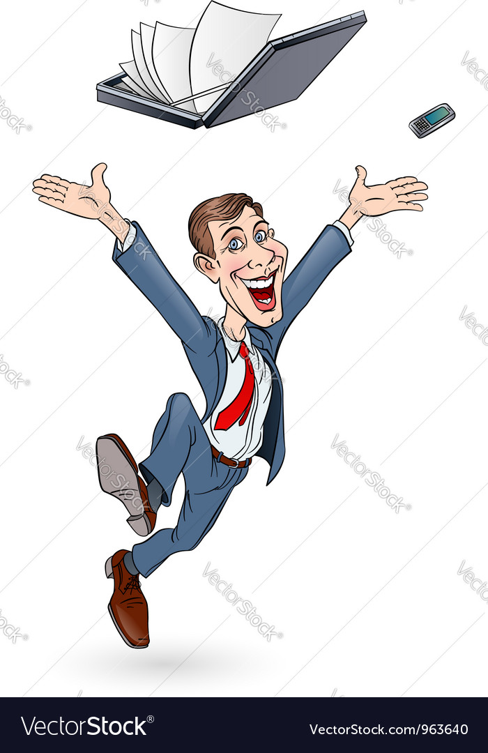 Happy businessman vector | Price: 3 Credit (USD $3)