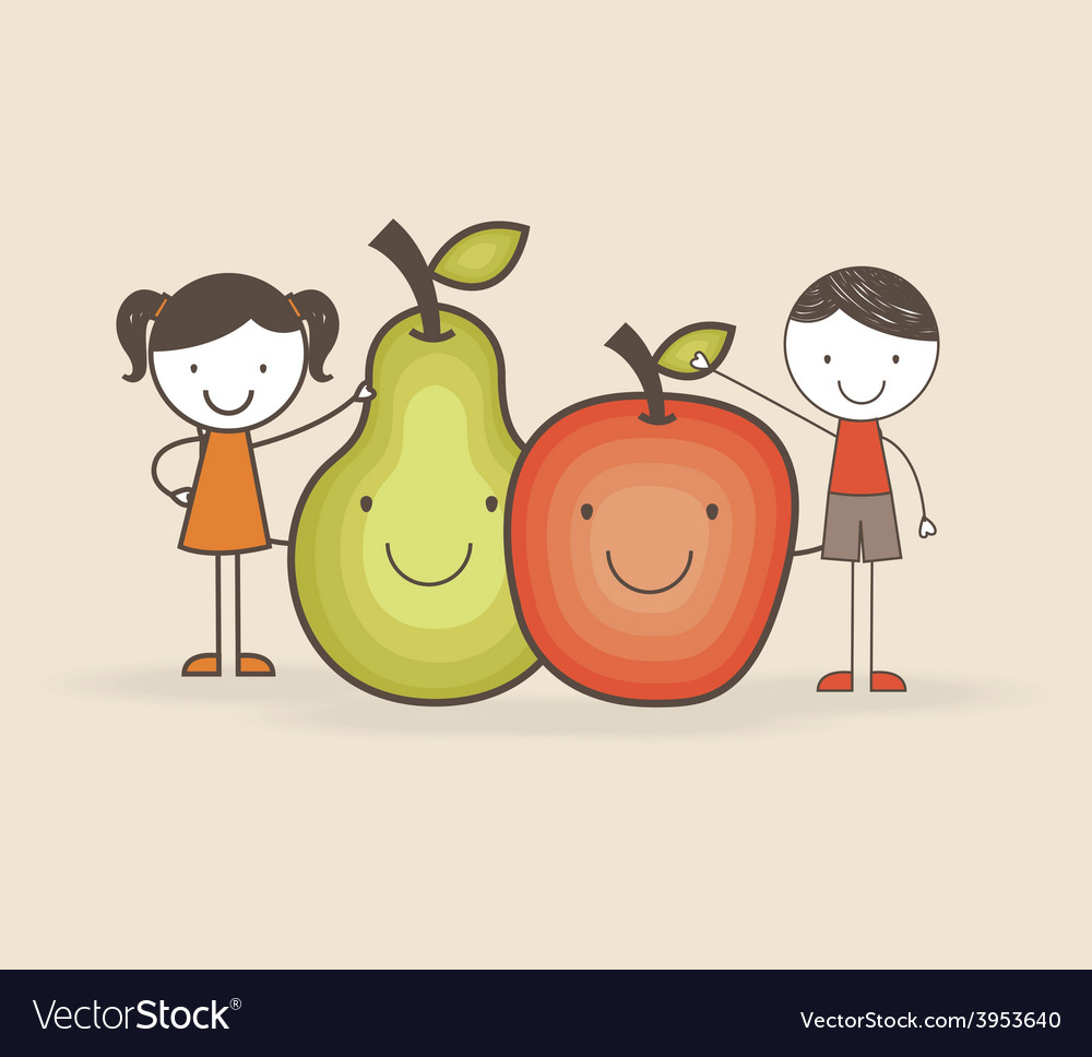 Kids nutrition vector | Price: 1 Credit (USD $1)