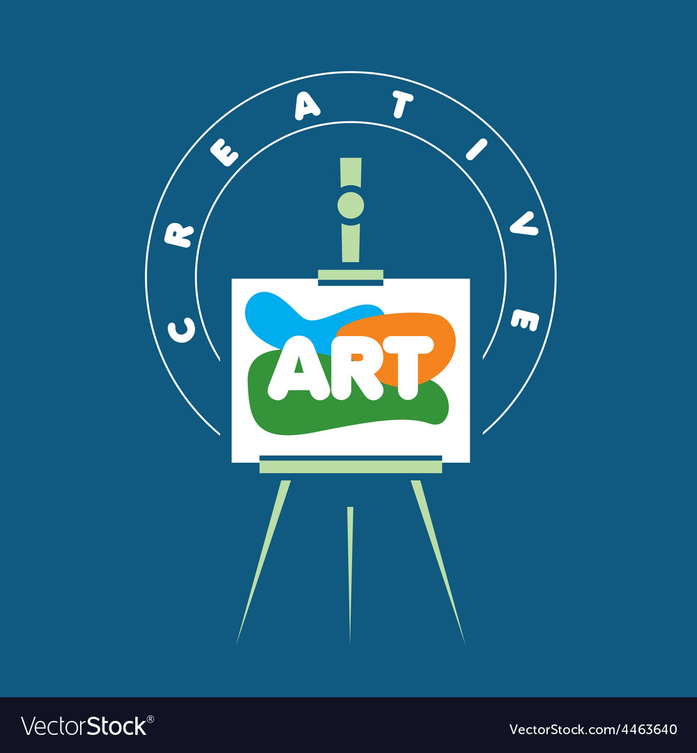 Logo creative easel for art vector | Price: 1 Credit (USD $1)
