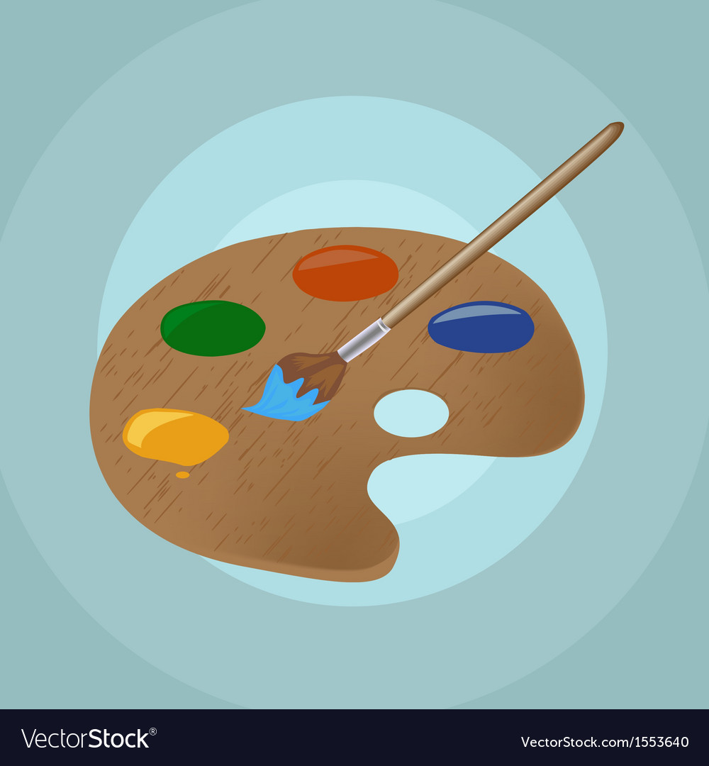On isolated paint brush and backgroun vector | Price: 1 Credit (USD $1)