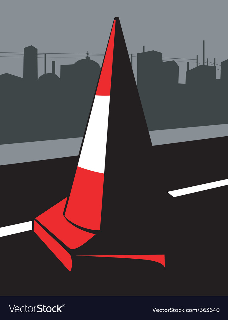 Road cone vector   Price: 1 Credit (USD $1)