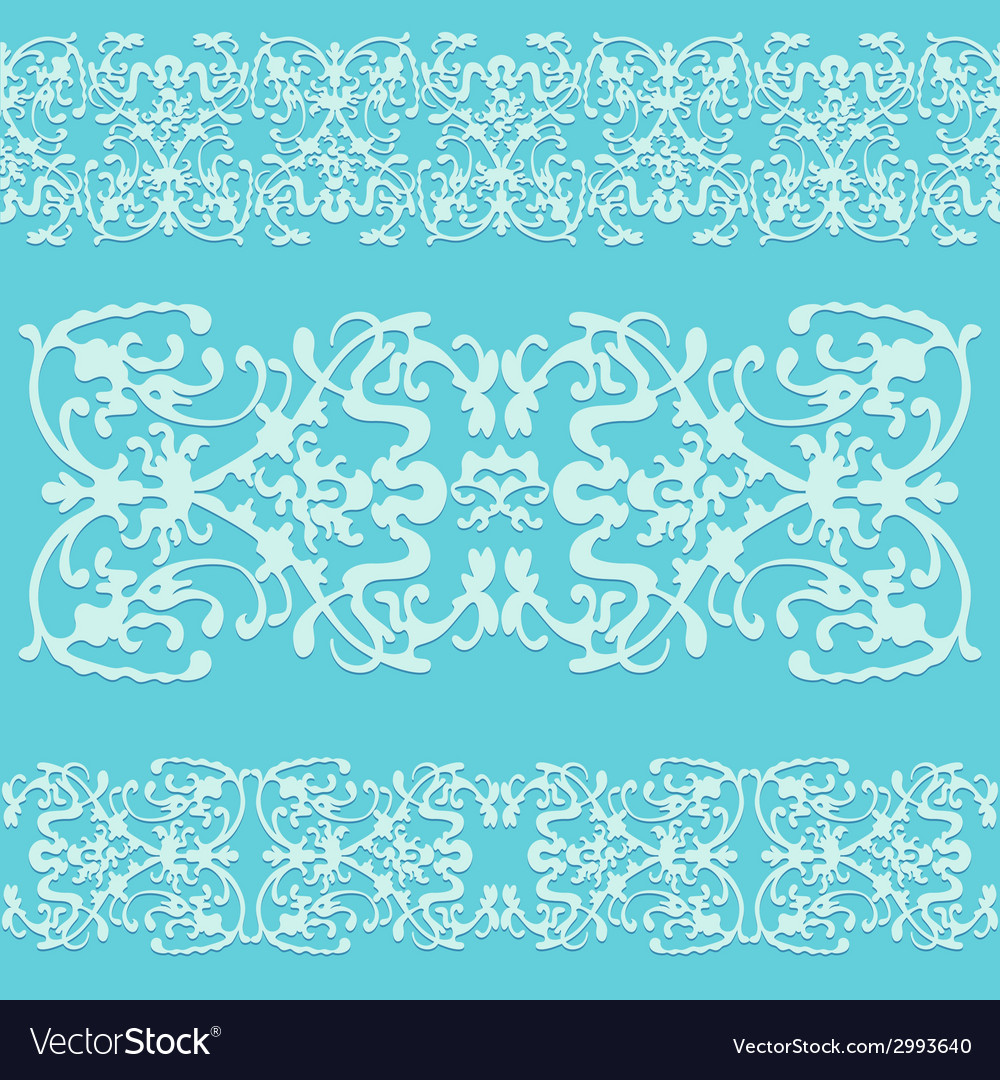 Swirling decorative pattern ornament blue vector | Price: 1 Credit (USD $1)