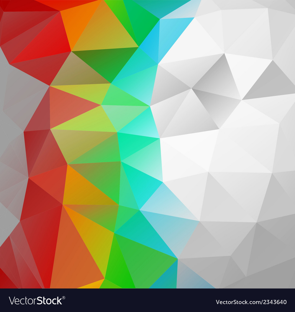 Triangle background multicolor polygons vector | Price: 1 Credit (USD $1)