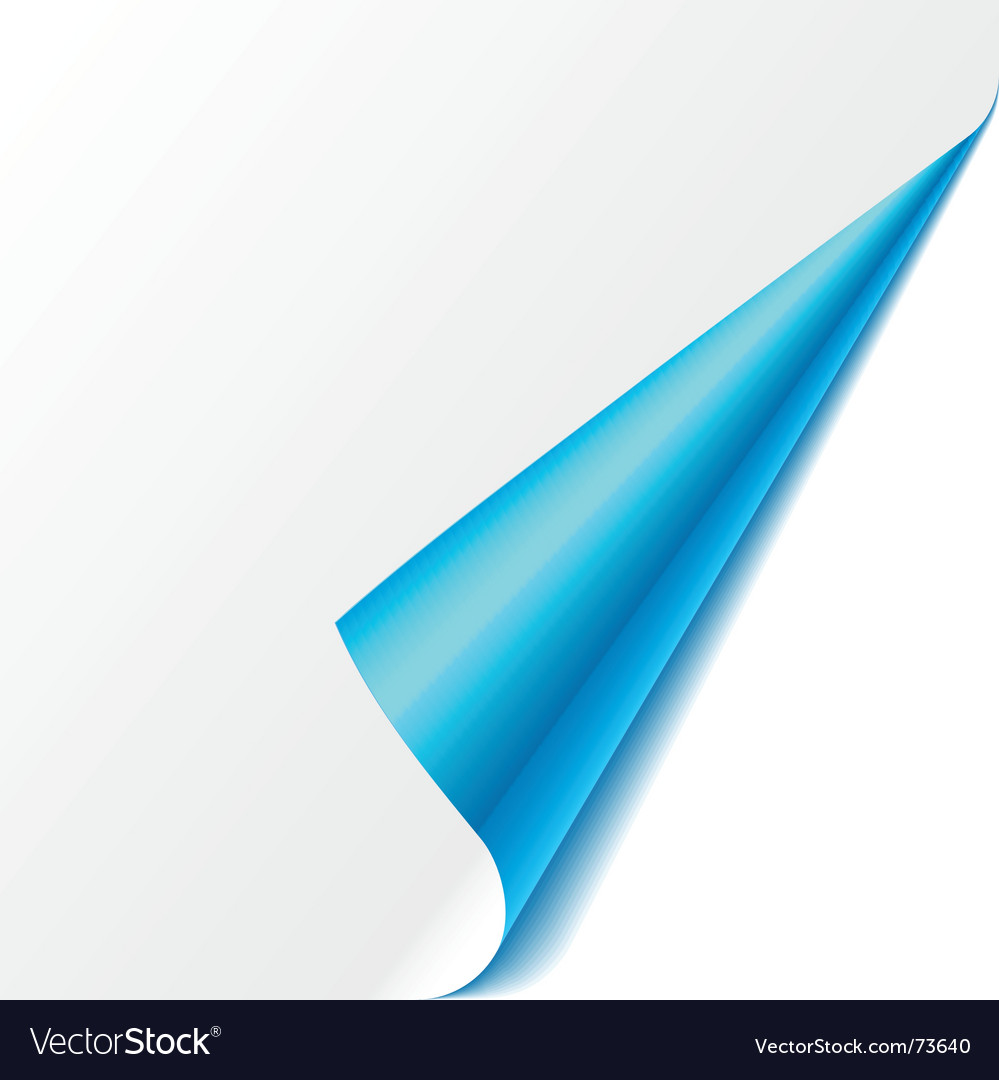Turned corner blue vector | Price: 1 Credit (USD $1)