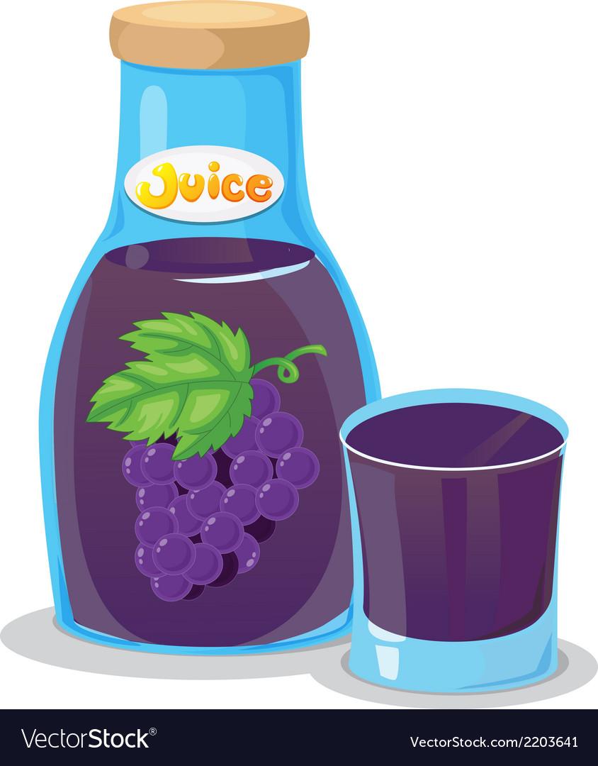 A grape juice vector | Price: 1 Credit (USD $1)