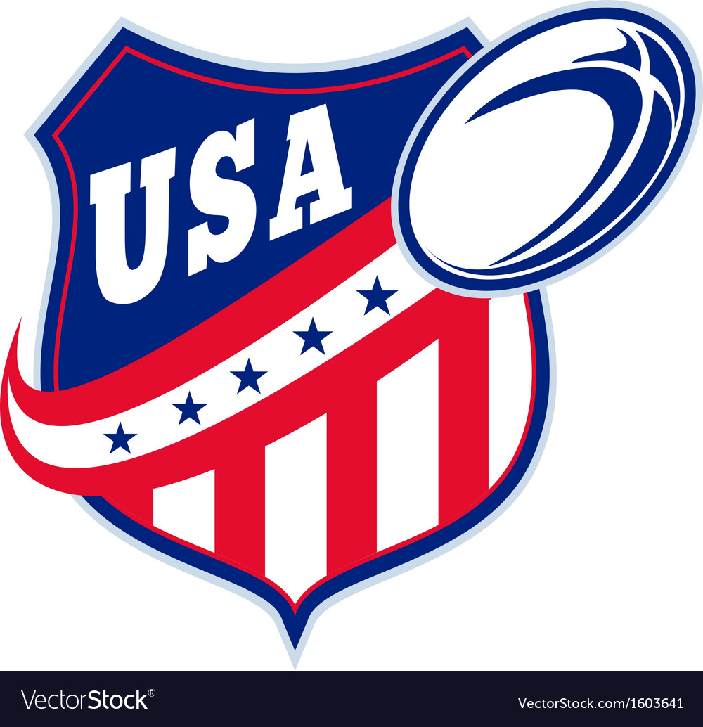 American rugby ball shield usa vector | Price: 1 Credit (USD $1)