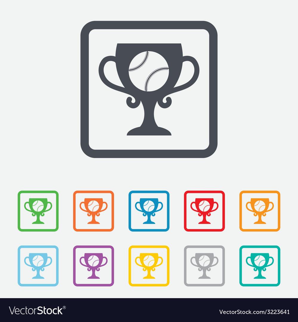 Baseball sign icon winner award cup symbol vector   Price: 1 Credit (USD $1)
