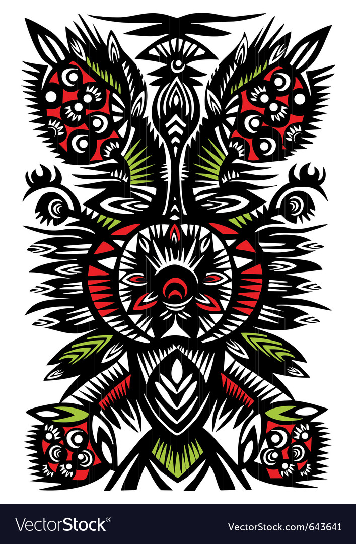 Black decorative floral pattern vector | Price: 1 Credit (USD $1)