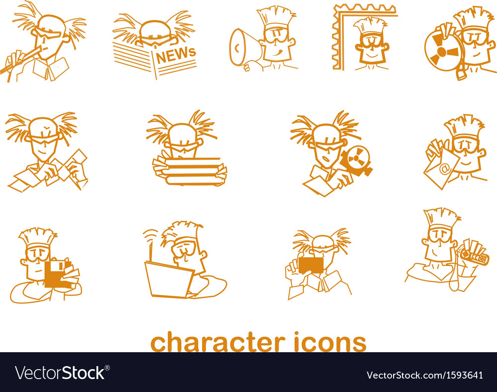 Character site icons vector | Price: 1 Credit (USD $1)