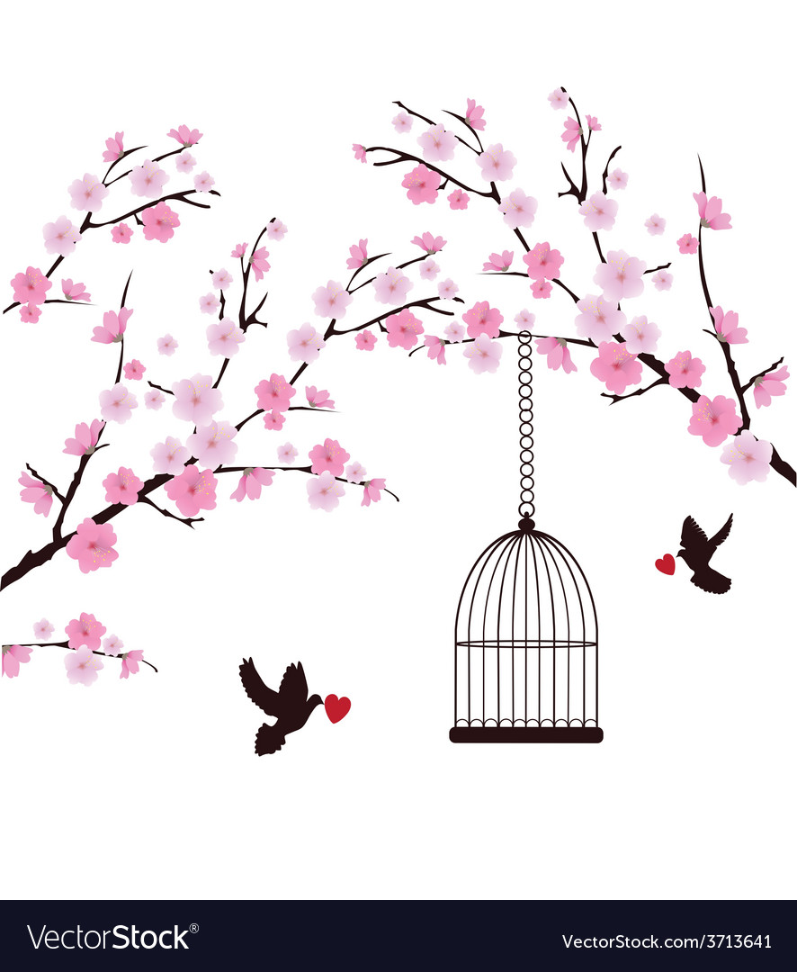 Dove love cage vector | Price: 1 Credit (USD $1)
