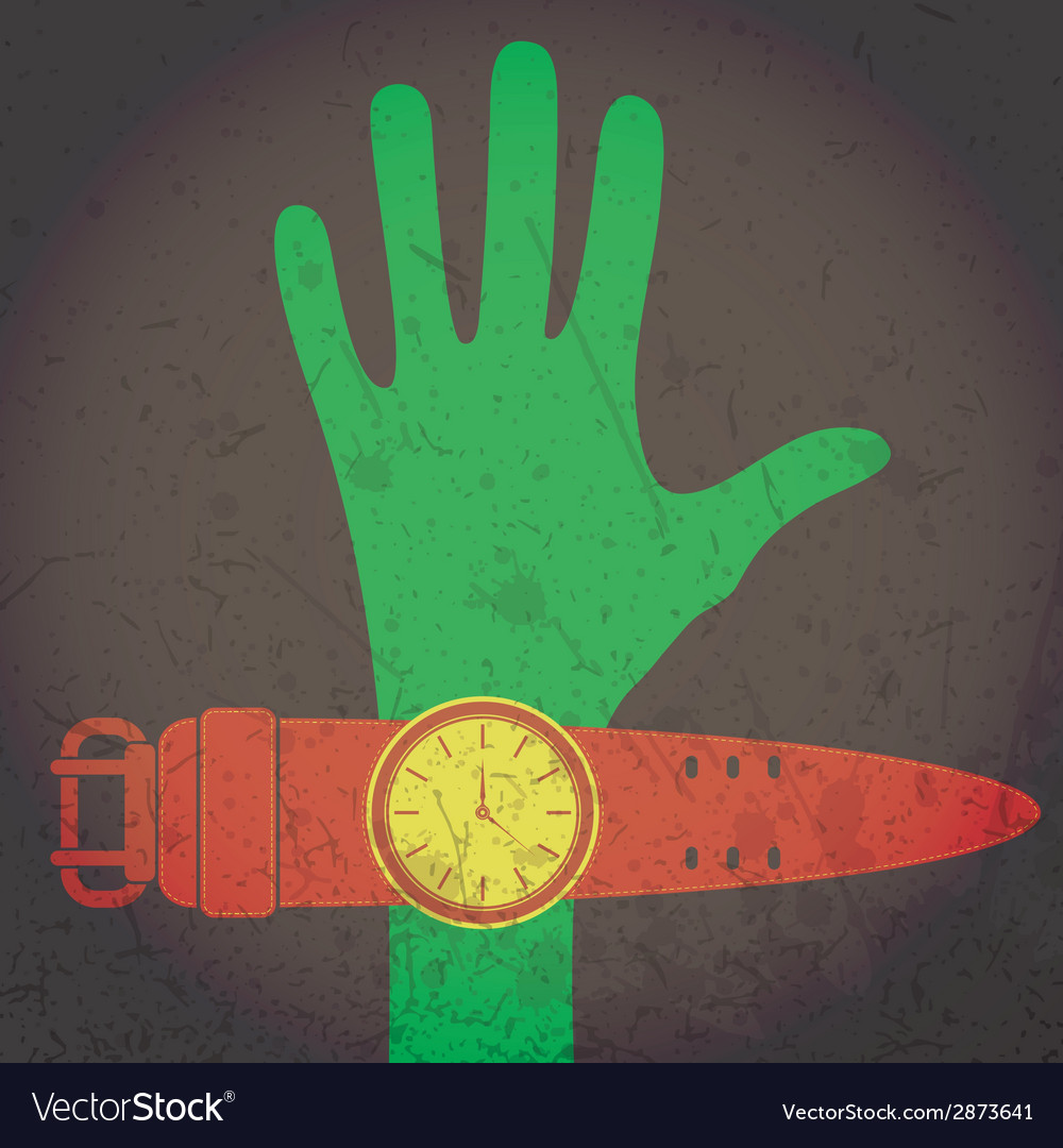 Hand and watch vector | Price: 1 Credit (USD $1)