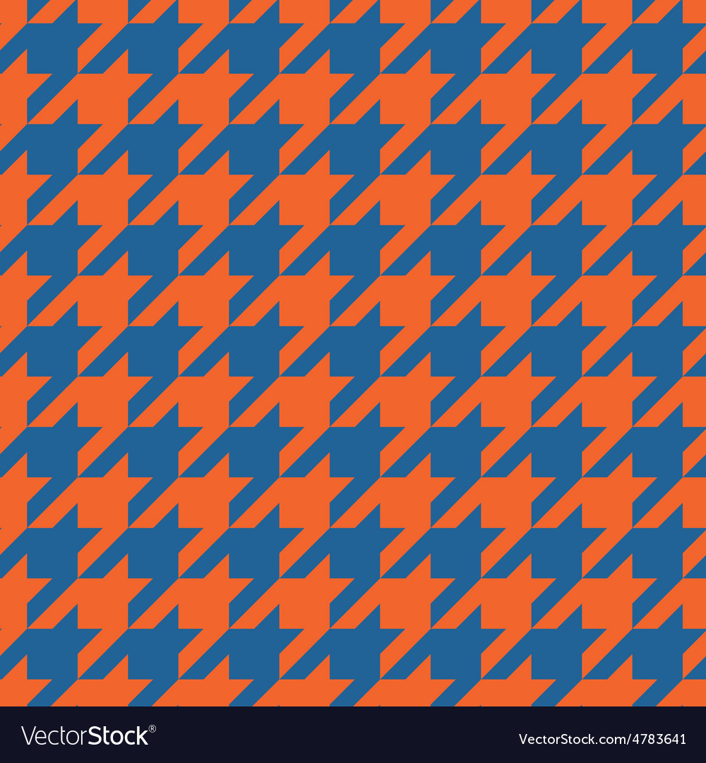 Houndstooth tile pattern or tweed wallpaper vector | Price: 1 Credit (USD $1)
