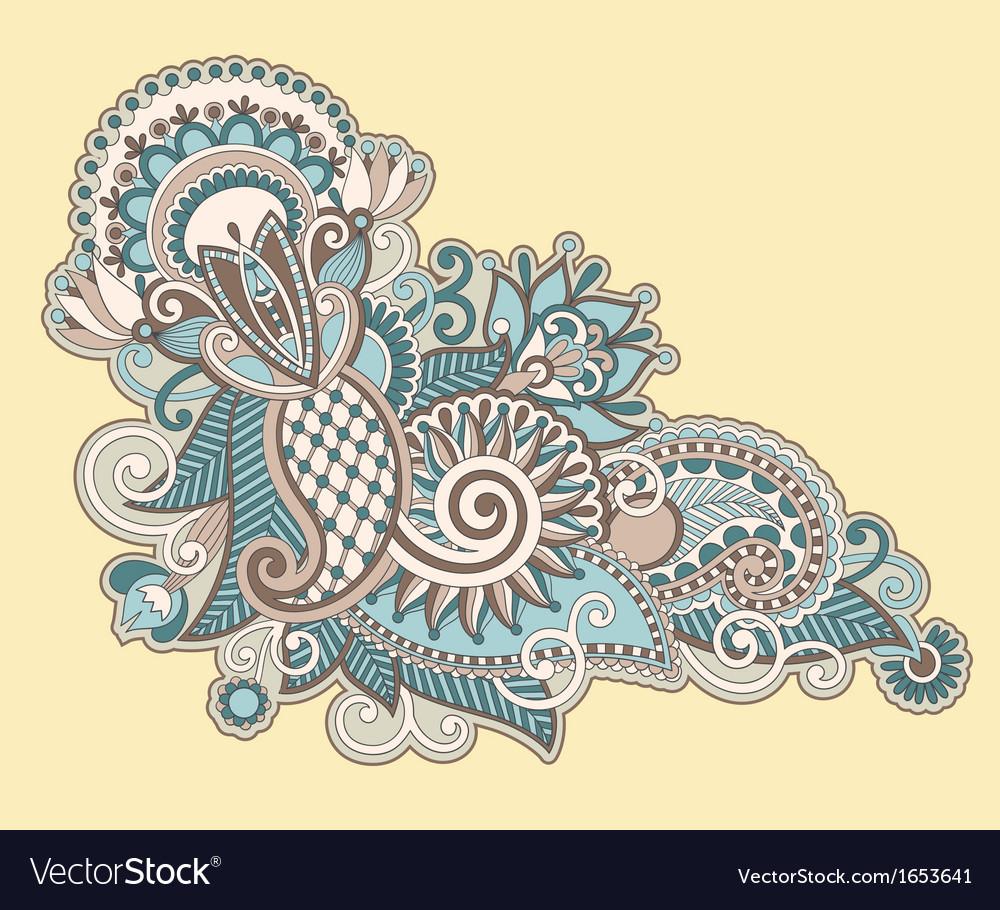 Ornate flower design vector | Price: 1 Credit (USD $1)