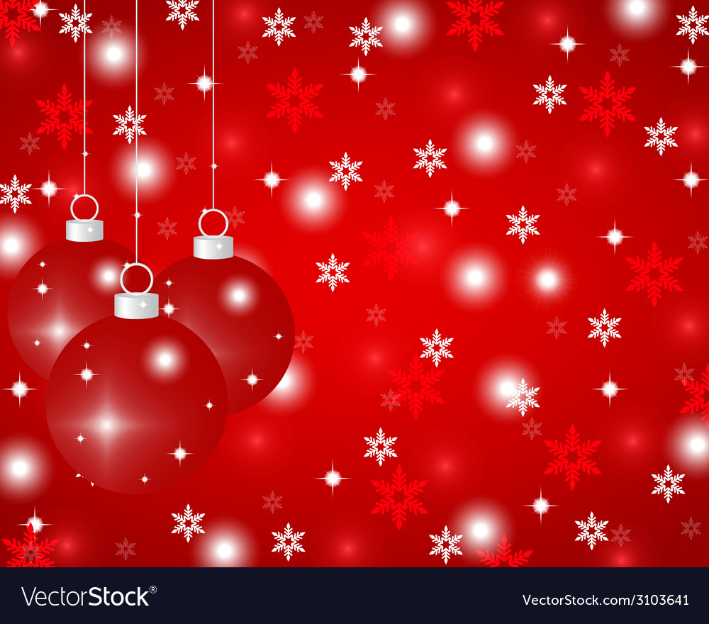Red christmas background with vector | Price: 1 Credit (USD $1)