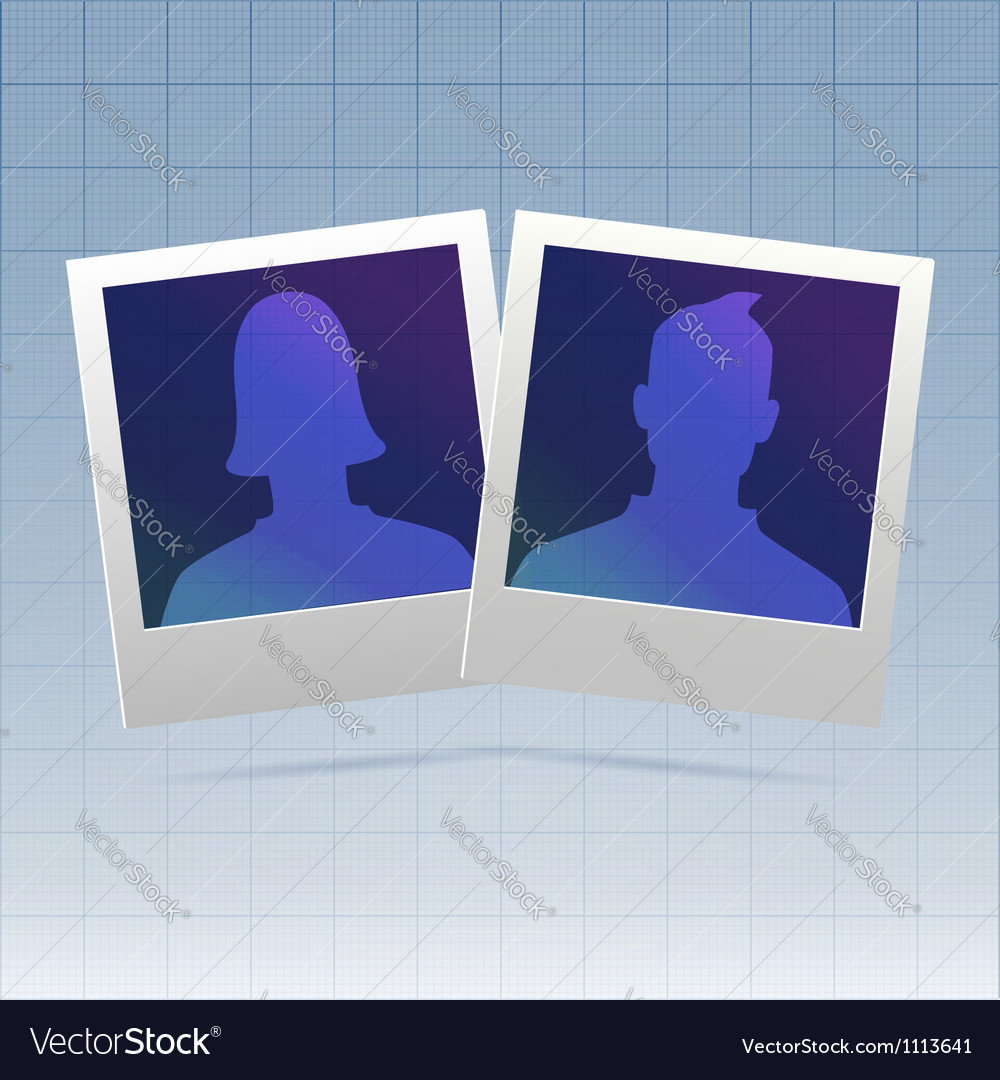 Social network couple vector | Price: 1 Credit (USD $1)