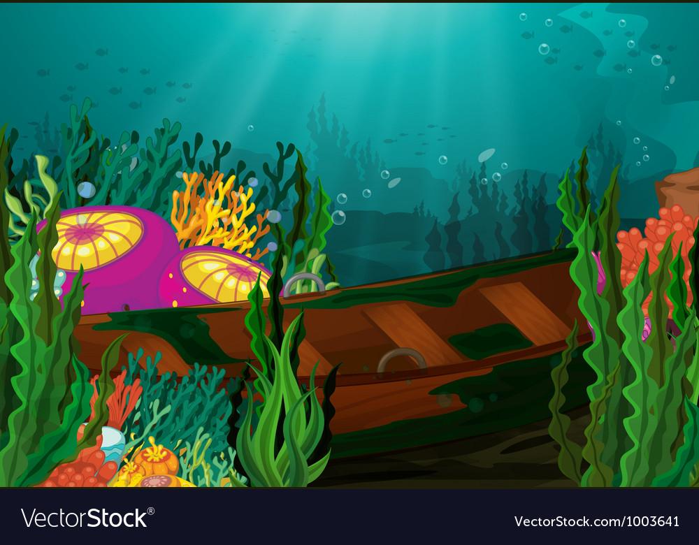 Sunken boat vector | Price: 3 Credit (USD $3)