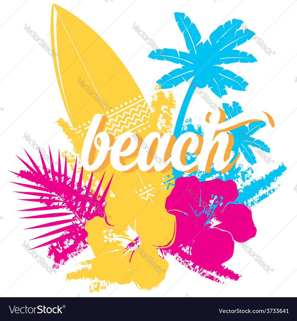Surf summer icon design label vector | Price: 1 Credit (USD $1)