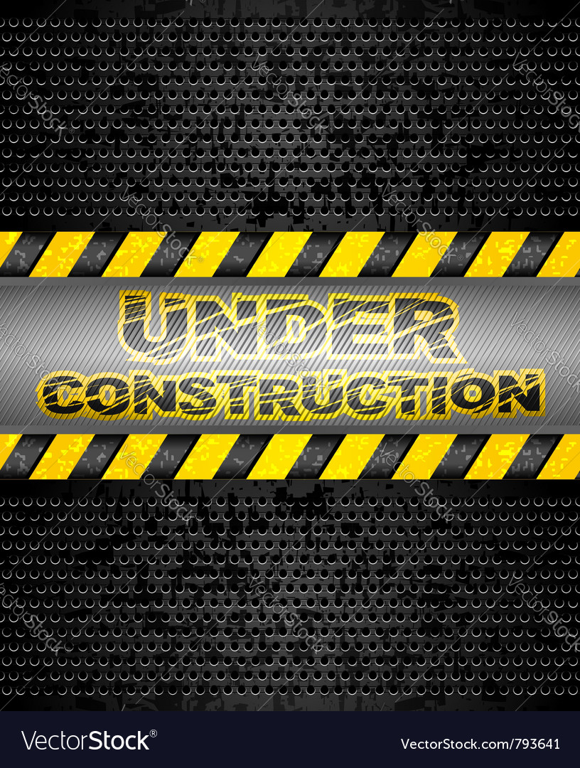 Under construction black metallic background vector | Price: 1 Credit (USD $1)