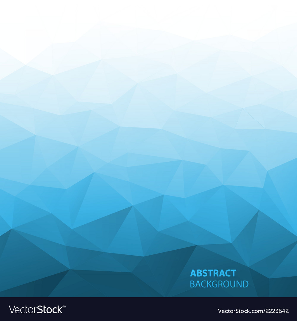 Abstract gradient blue geometric background vector | Price: 1 Credit (USD $1)