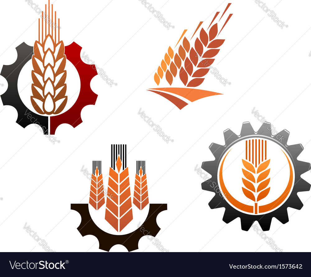 Agriculture symbols set vector | Price: 1 Credit (USD $1)