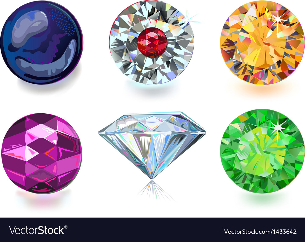 Colored gems vector | Price: 1 Credit (USD $1)