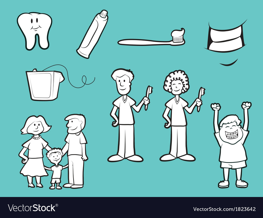 Dental icons vector | Price: 1 Credit (USD $1)