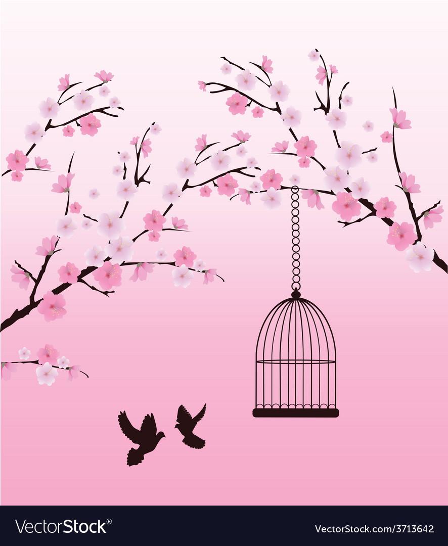 Dove love cage vector | Price: 1 Credit (USD $1)