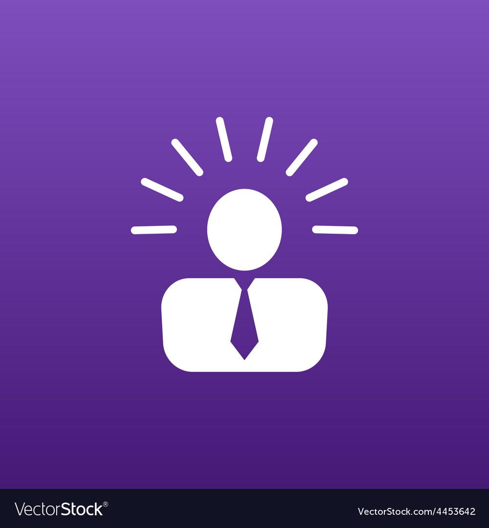 Icon suggestion idea concept lightbulb people vector | Price: 1 Credit (USD $1)
