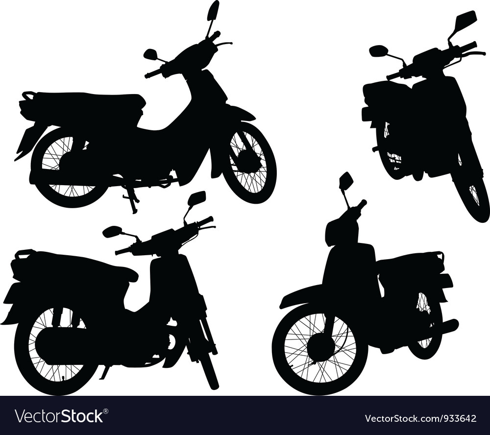 Scooters vector | Price: 1 Credit (USD $1)