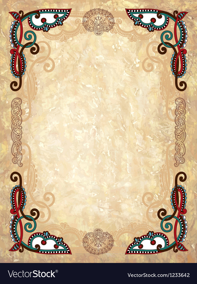 Vintage frame in grunge background vector | Price: 1 Credit (USD $1)