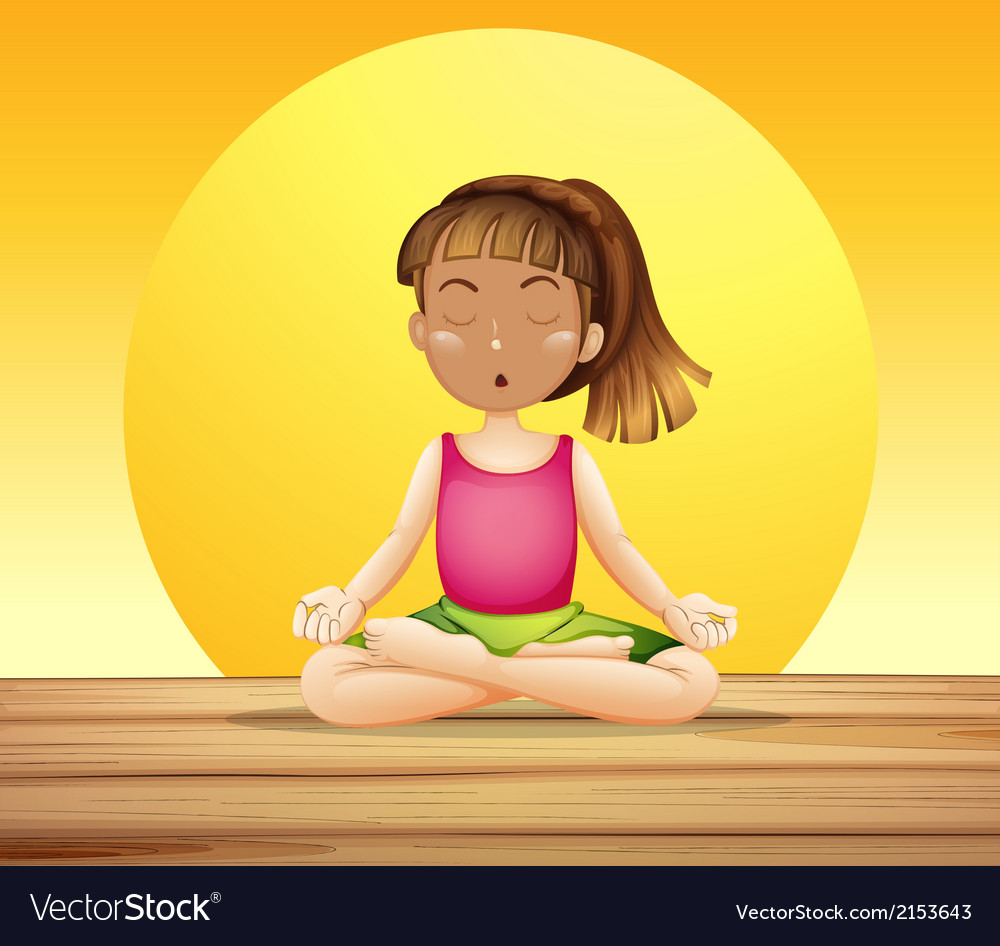 A young lady doing yoga vector | Price: 1 Credit (USD $1)
